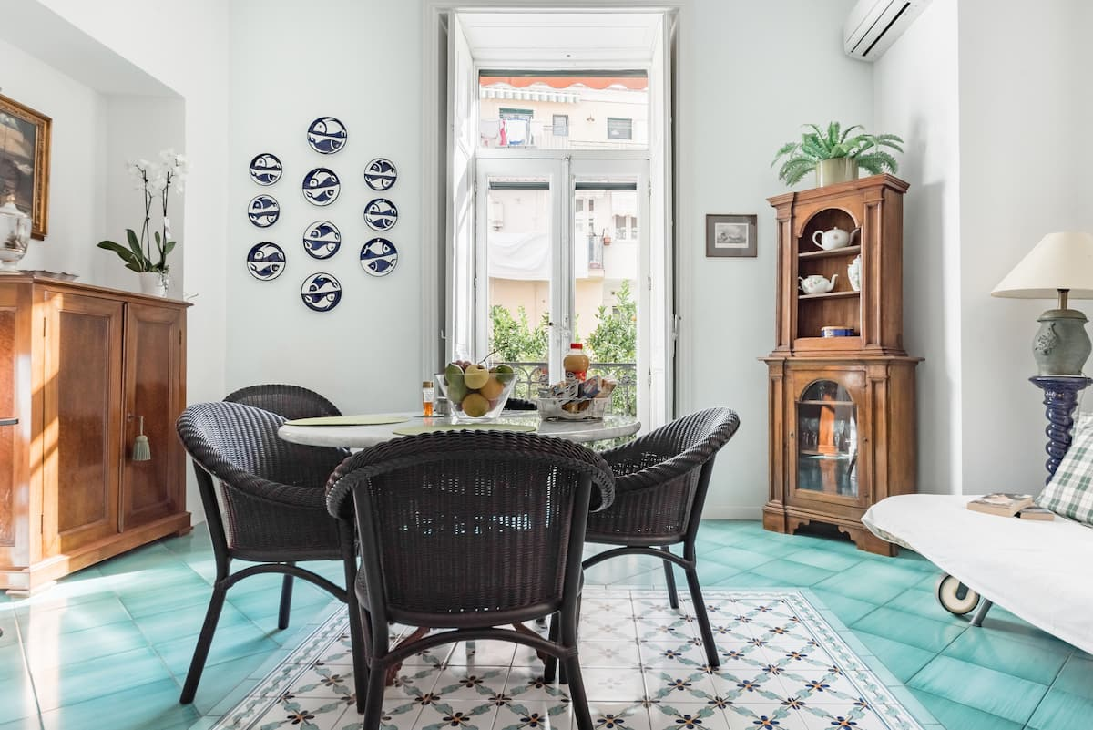 Upscale Central Amalfi Apartment in 19th-Century Building