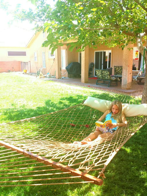 Take a nap or read a book in the hammock