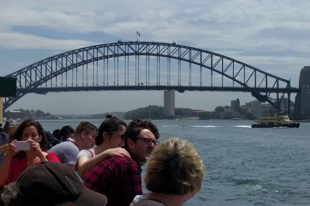 Iconic Sydney Harbour Bridge.