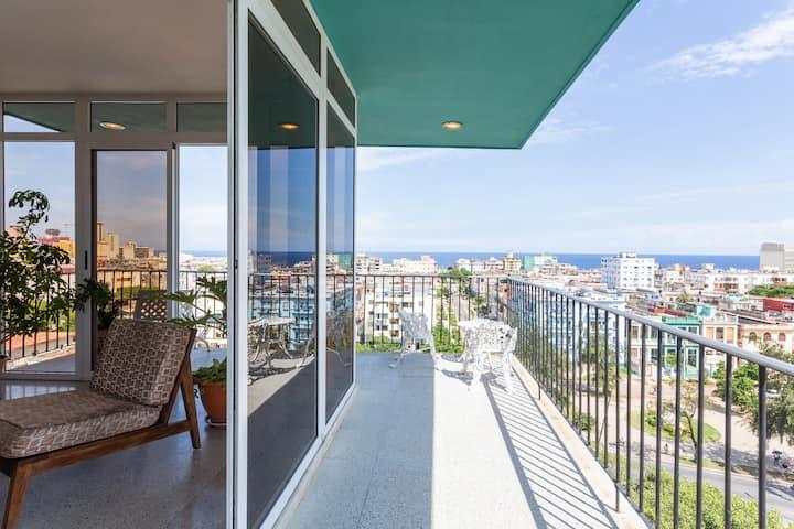 Habana 1958#1.Luxury Flat wit Sea & City View.