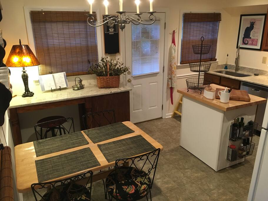 Fully furnished kitchen with work area