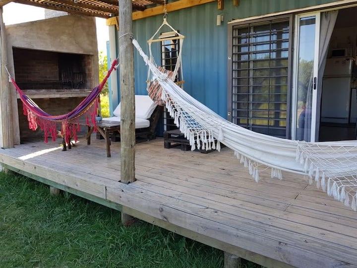 Casa La Pedrera Punta Rubia Rocha estufa a leña