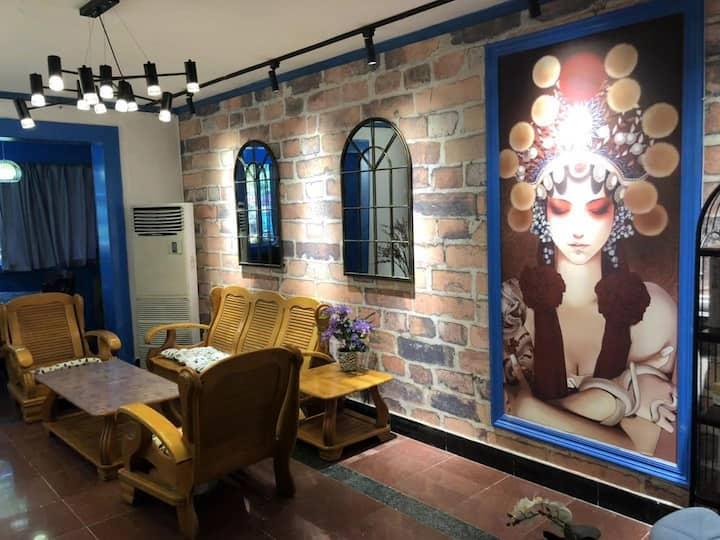 宽窄巷子/锦韵·锦里西路123号/二室一厅一卫精装民宿。