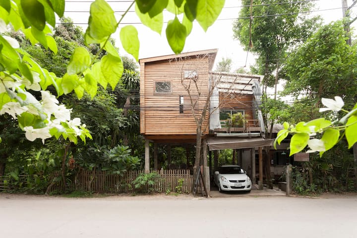 Modern treehouse homestay in Doi Suthep foothill