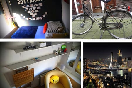 Bike included with room to easier your stay. - Róterdam - Dormitorio compartido