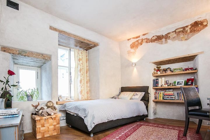 Medieval apt+2BR+sauna+fireplace, In Old Town