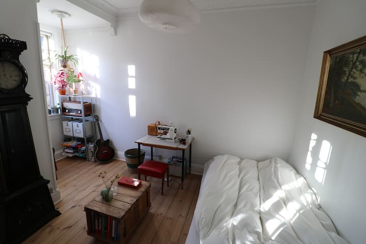 Bright room in central cozy apartment