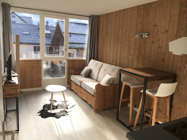 Studio neuf, centre, vue Mont Blanc, wifi 207