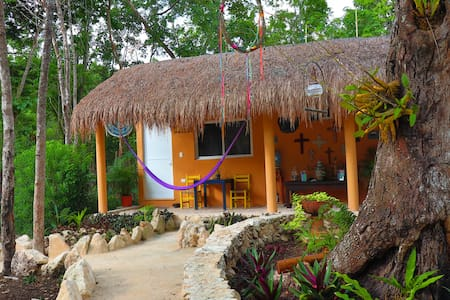 private jungle room Chechen Casa TzalamTulumselva