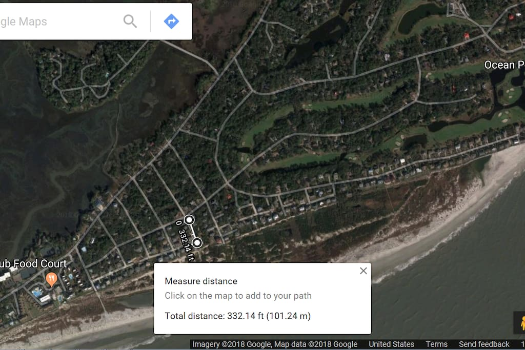 Distance from house to beach!