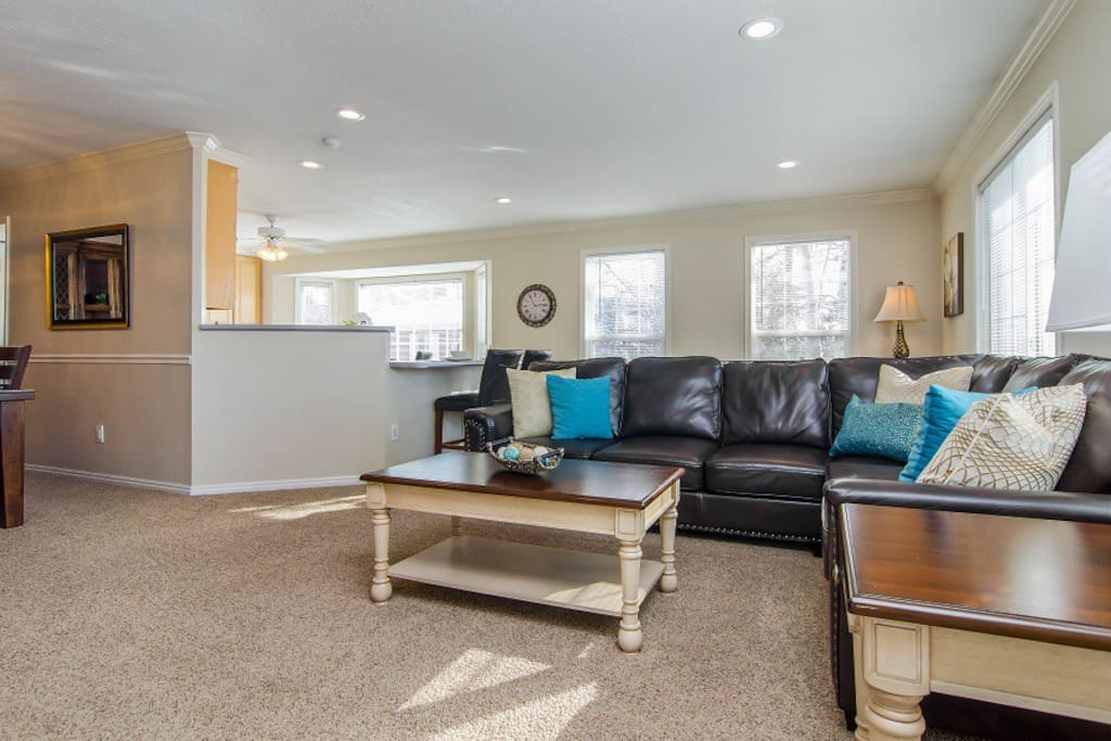 Very open layout to kitchen and dinning area