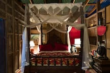 The Allure of the net-draped bed; everyone should experience a tropical night at least once!Bed