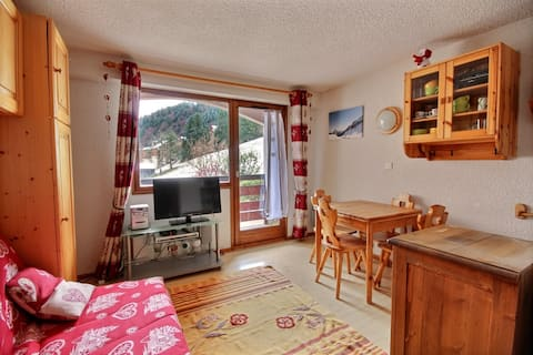 STUDIO - 1*- APARTMENT -SKI IN SKI OUT -SAINT JEAN D'AULPS SKI RESORT - 4 PEOPLE - CIMES 18