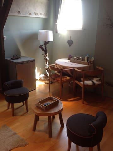 Le chalet est le thème de la chambre de deux lits - Mouscron - ゲストハウス