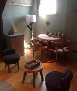 Le chalet est le thème de la chambre de deux lits - Guesthouse