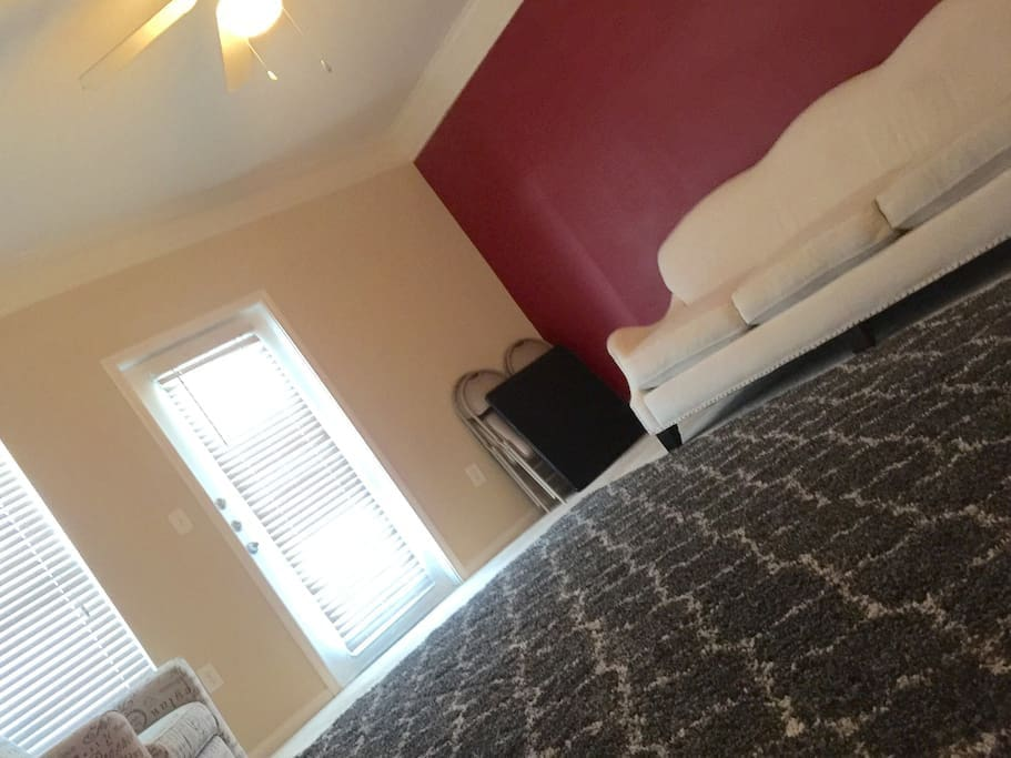Card Table to play Spades (Area includes 2 Queen BeautyRest Air Mattresses)