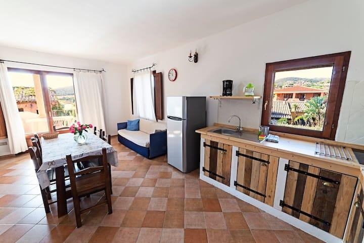 Two bedrooms apartment split level