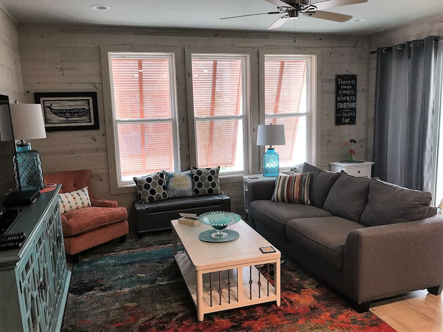 The Living Room with Queen Sleeper Sofa