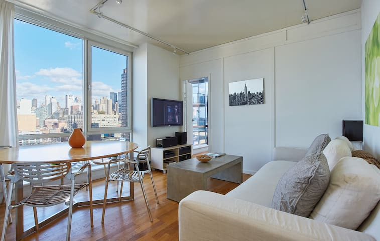 Bright +Modern Midtown River / Times Square Luxury - New York - Appartement en résidence