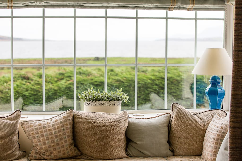 Gorgeous fabrics and view