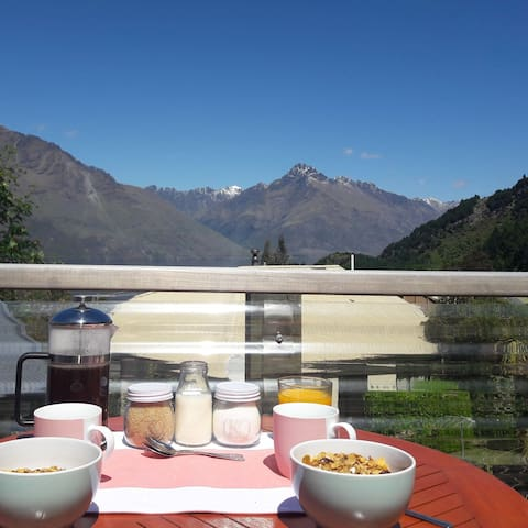 You can set up your breakfast on the balcony