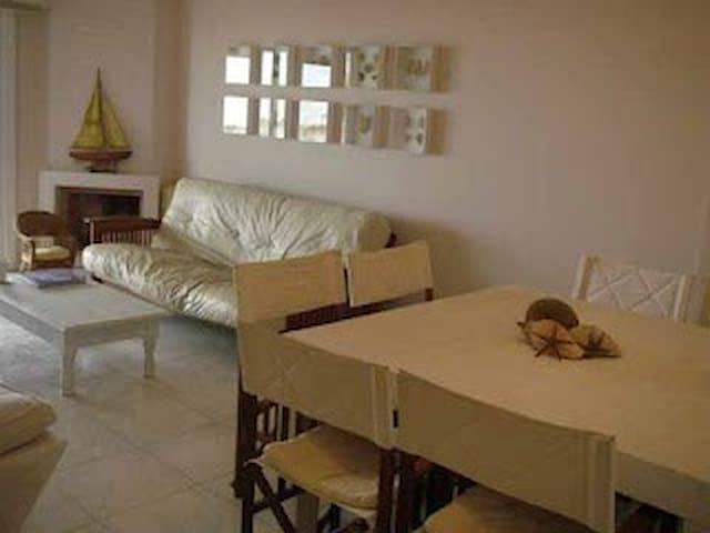 Living comedor, mesa para 8 comensales, futon extensible .2 sillones individuales, TV. x cable