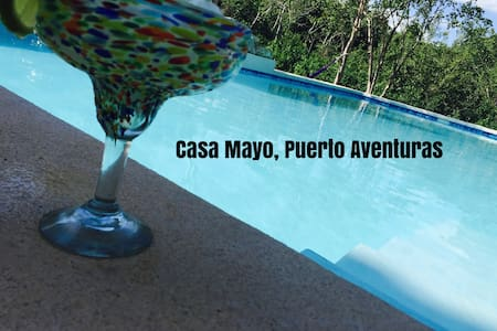 2 Minutes to Sandy beach-Pool villa,Golf cart - Puerto Aventuras