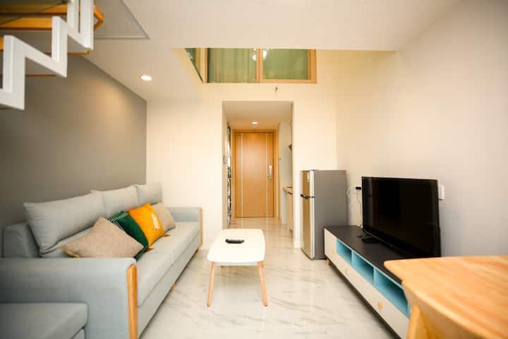 梦想家公寓|东莞东城碧桂园•苹果现代简约风温馨loft复式