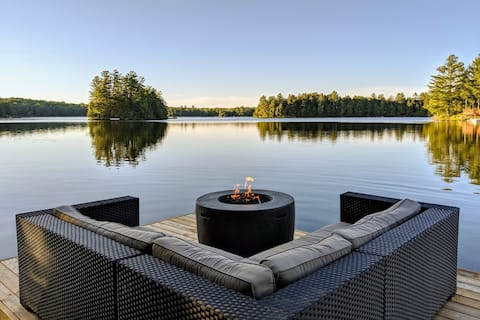 Muskoka Lakeside Cottage • Dock • Beach • Paradise
