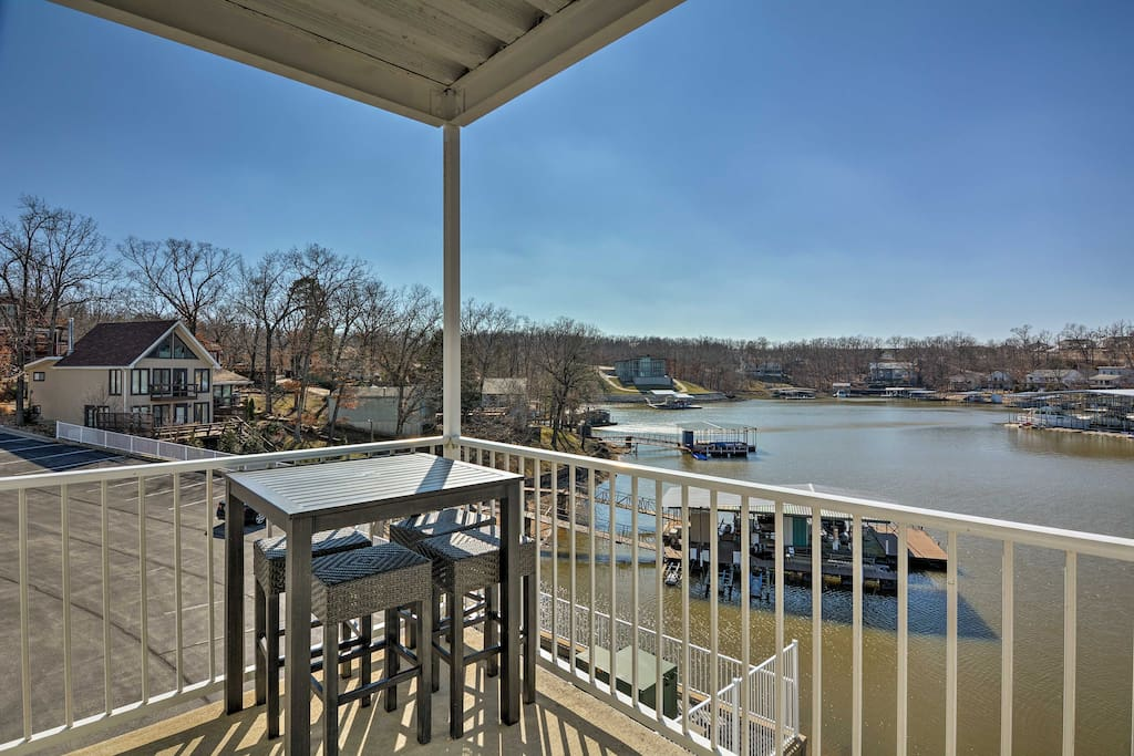 With a furnished porch, lake view, & space for 8, this home is very comfortable.