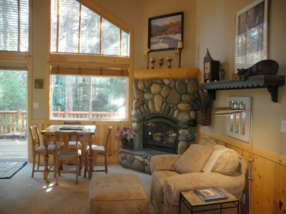 Homewood Heaven Living Area Fireplace