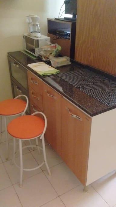 Mesa de Café e forninho