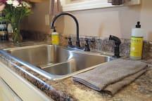 Super clean kitchen space.
