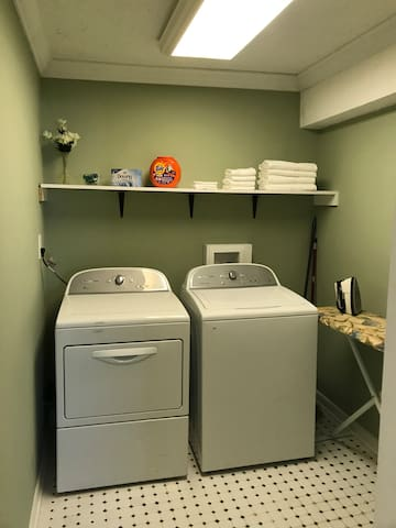 Light maid service is available by request. You may also choose to do your own laundry with complimentary detergent and drier sheets. There is an ironing station for your convenience.
