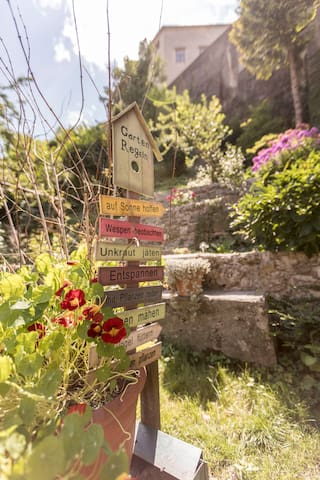 Great garden beneath the Abbey