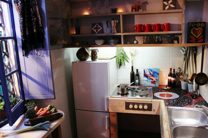 Original Designed Kitchen, with electric hob, Owen, Fridge and Freezer