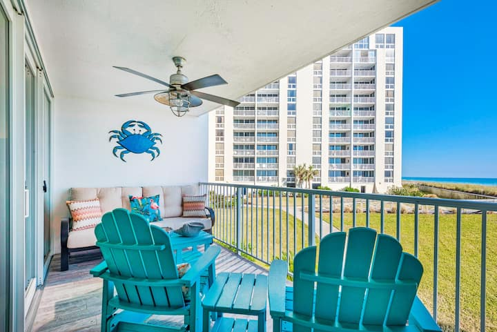 Updated☀GULF FRONT☀Beach Svc☀2 Step Sanitizing Process☀2BR Shoreline Towers 2025