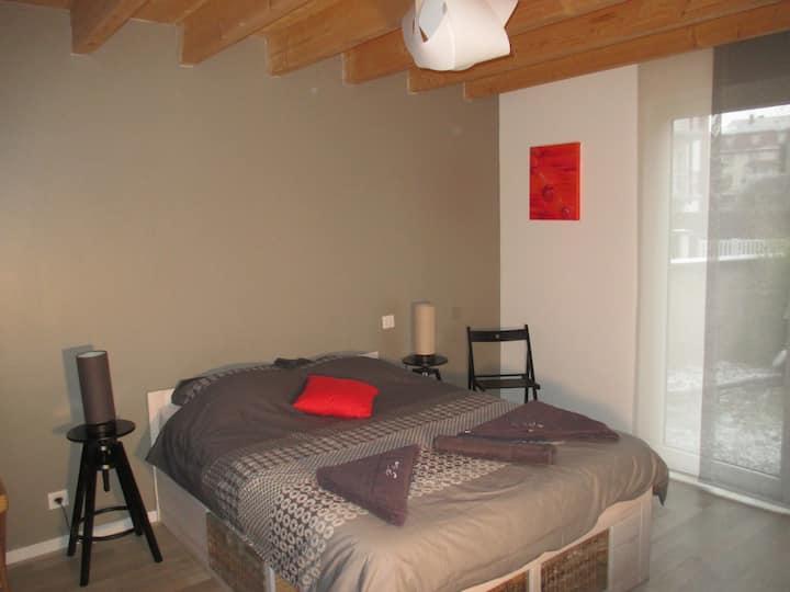 Chambre avec salle de bain privée. Strasbourg 10'
