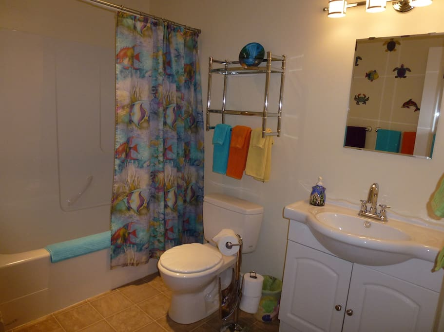 fully supplied and equipped private bathroom.