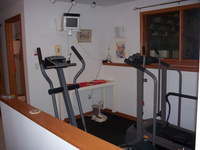 Work out machines that offer cable TV while you exercise.