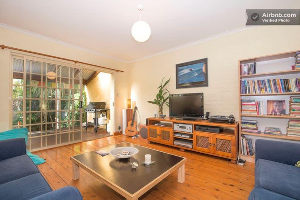 Main Living room, TV,  Sound system.