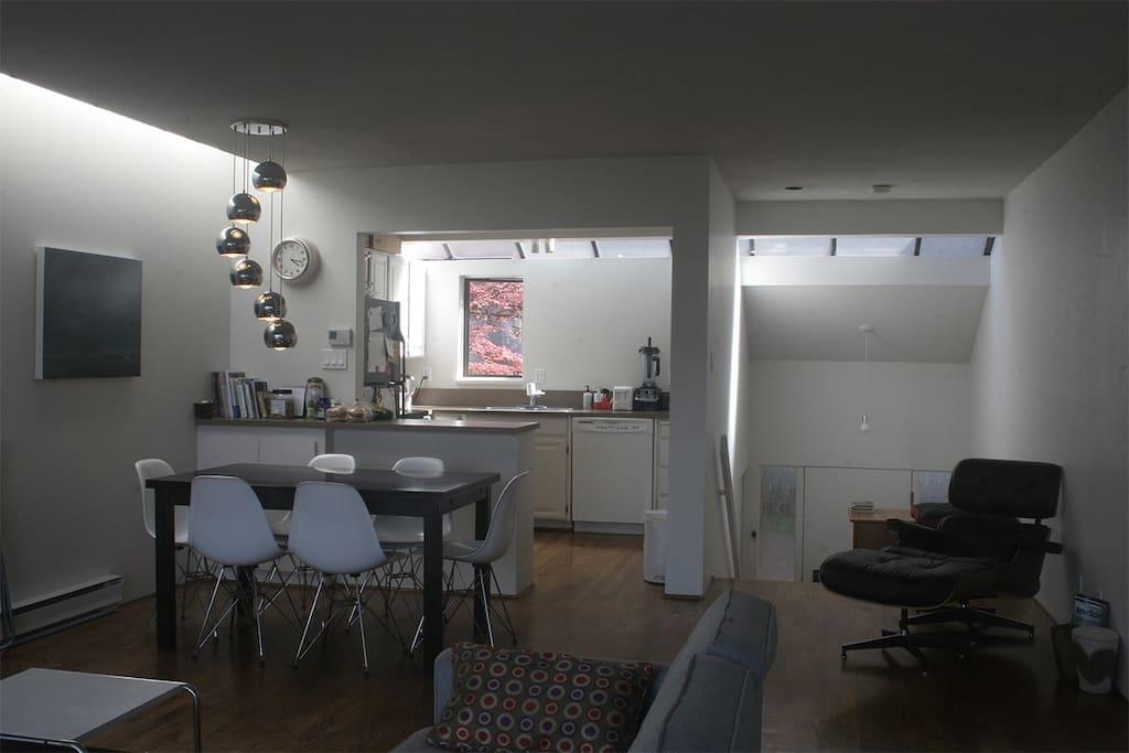 clean modern livingroom