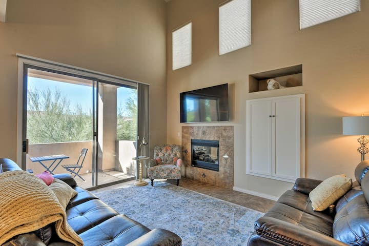 Bask in the Arizona sunshine right from your living room and private balcony.