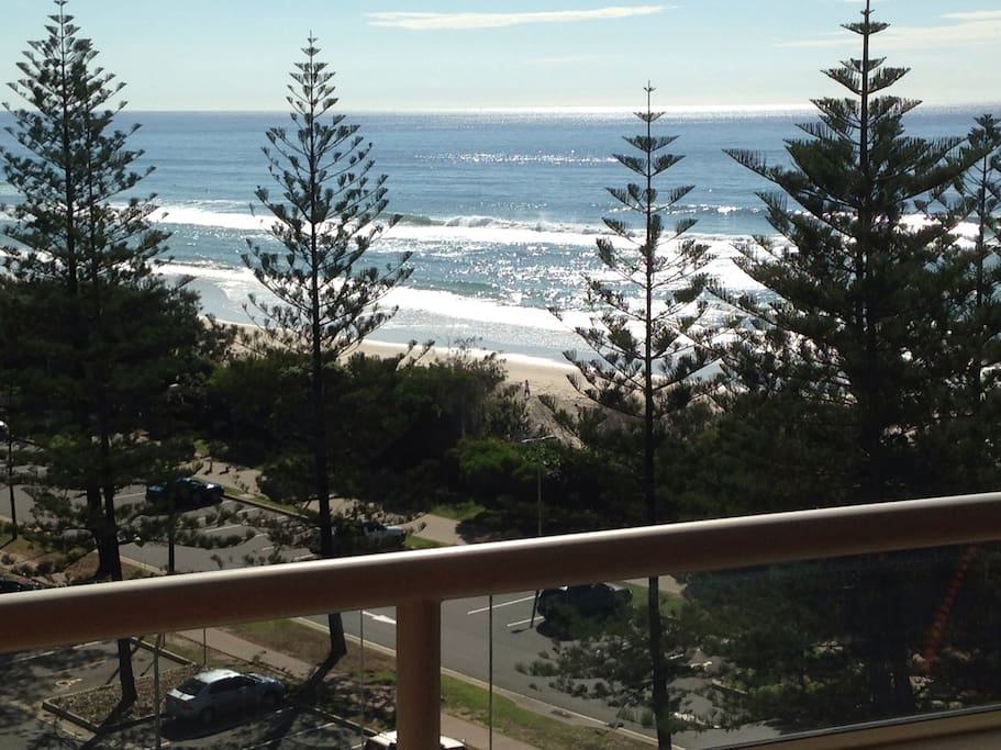 Burleigh beach ocean views from the balcony.