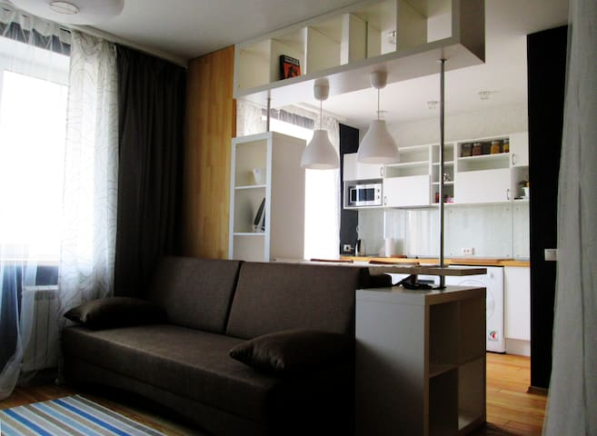 ECO-STUDIO, Moscow, Skhodnya - Khimki - Apartment