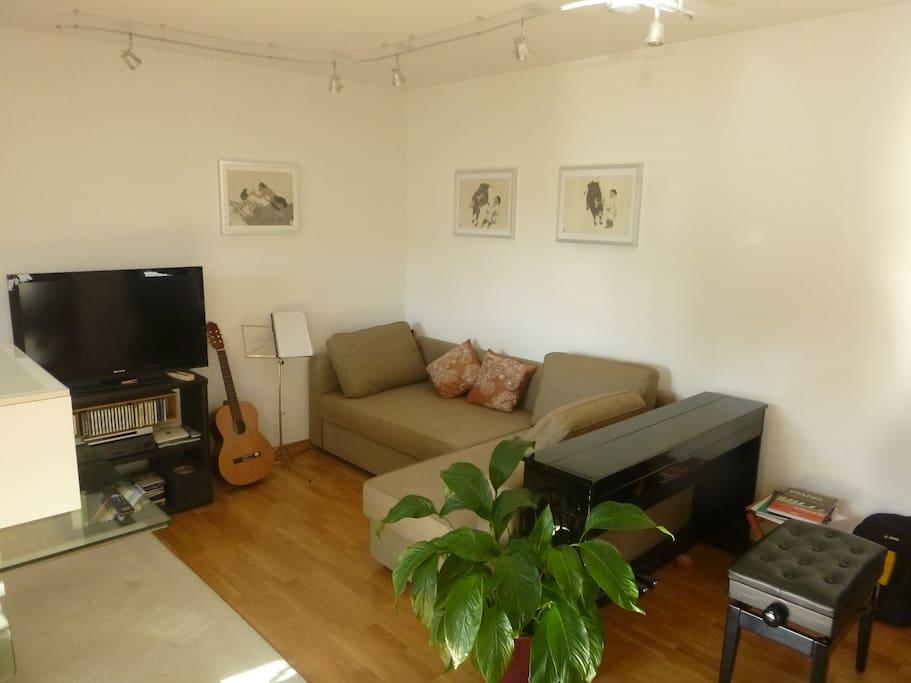 Living Room / TV Area / Piano corner