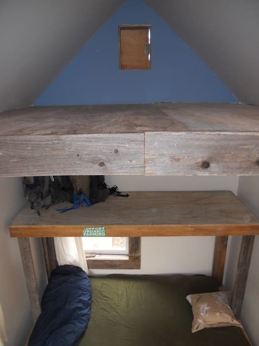 loft space for sleeping/ storage...additional loft opposite this one for storage as well as under the bed too