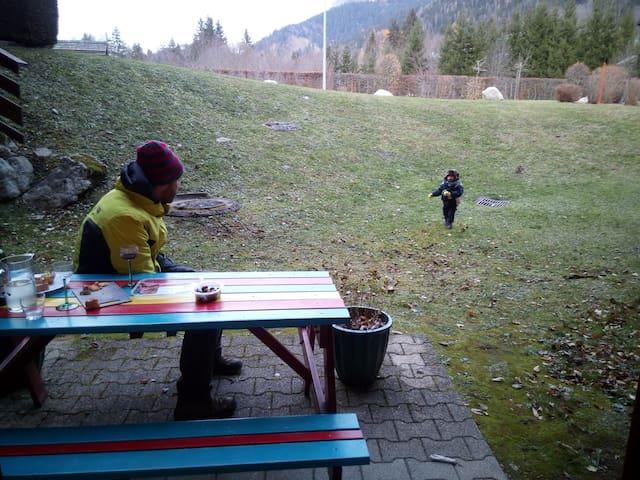 telecabines at 200 m, garden access
