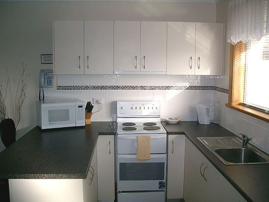 Fully-equipped modern kitchen