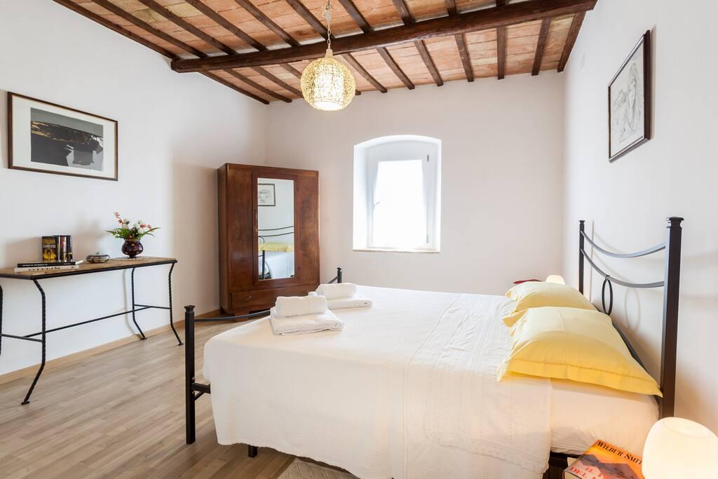 The main bedroom and wardrobe